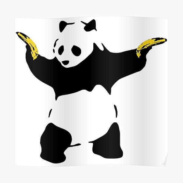 Bad Panda Stencil Poster