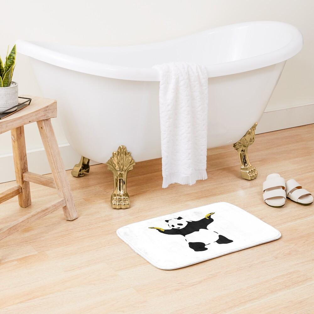 Bad Panda Stencil Bath Mat