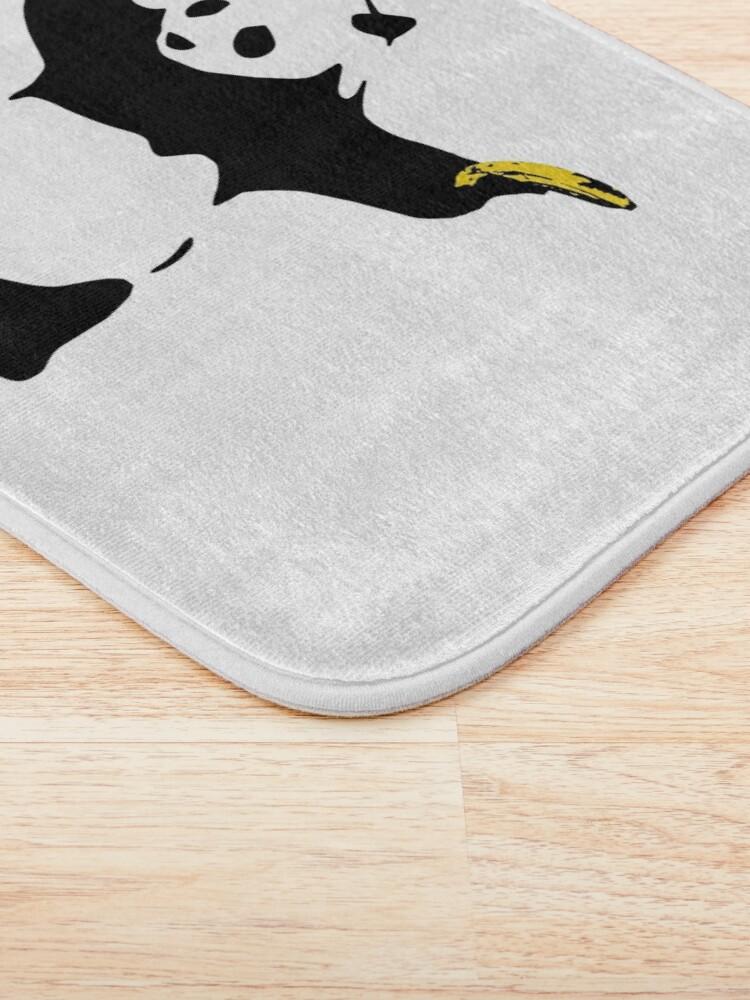 Alternate view of Bad Panda Stencil Bath Mat