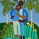Rasta man Hug Zionart Zion Levy Stewart by zionart