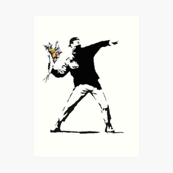 Plantilla de bombardero de flores de ira Lámina artística