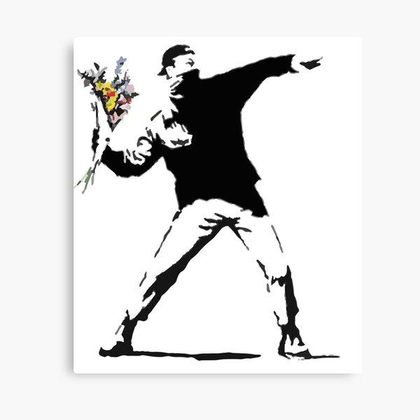 Rage Flower Bomber Stencil Canvas Print
