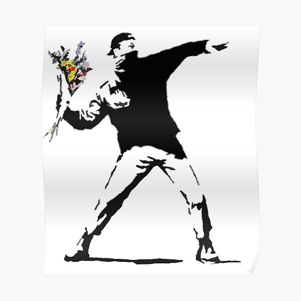 Rage Flower Bomber Stencil Poster