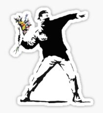 Rage Flower Bomber Stencil Sticker