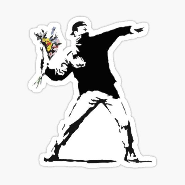 Plantilla de bombardero de flores de ira Pegatina