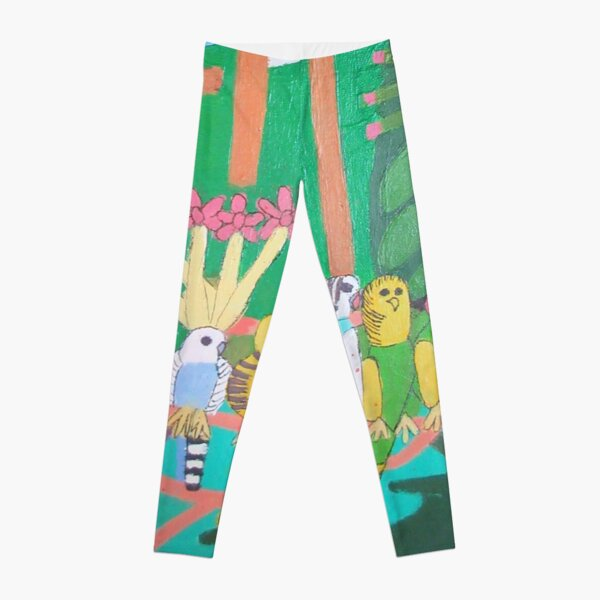 Five Budgerigars Zionart Zion Levy Stewart Leggings