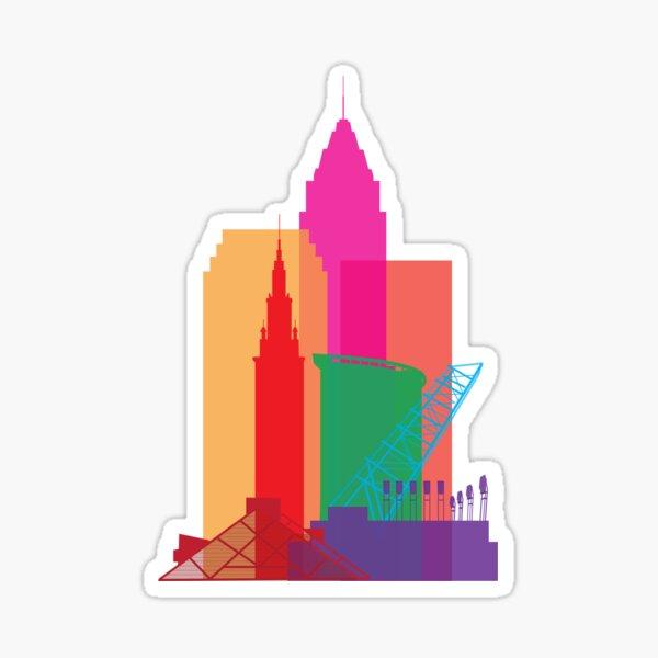 CLE skyline Sticker