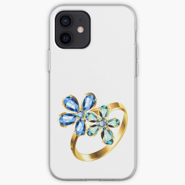 engagement ring #gold, #bright, #decoration, #gift, design, ornate, luxury, jewelry, illustration, celebration iPhone Soft Case