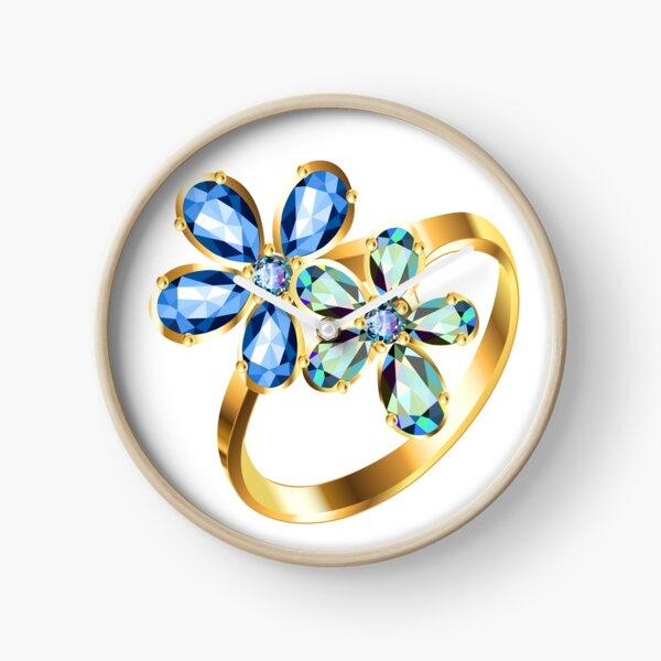 engagement ring #gold, #bright, #decoration, #gift, design, ornate, luxury, jewelry, illustration, celebration Clock