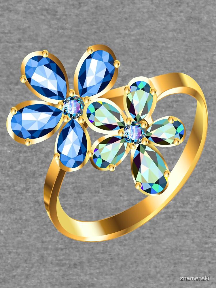 engagement ring #gold, #bright, #decoration, #gift, design, ornate, luxury, jewelry, illustration, celebration by znamenski