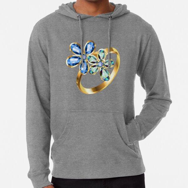 engagement ring #gold, #bright, #decoration, #gift, design, ornate, luxury, jewelry, illustration, celebration Lightweight Hoodie