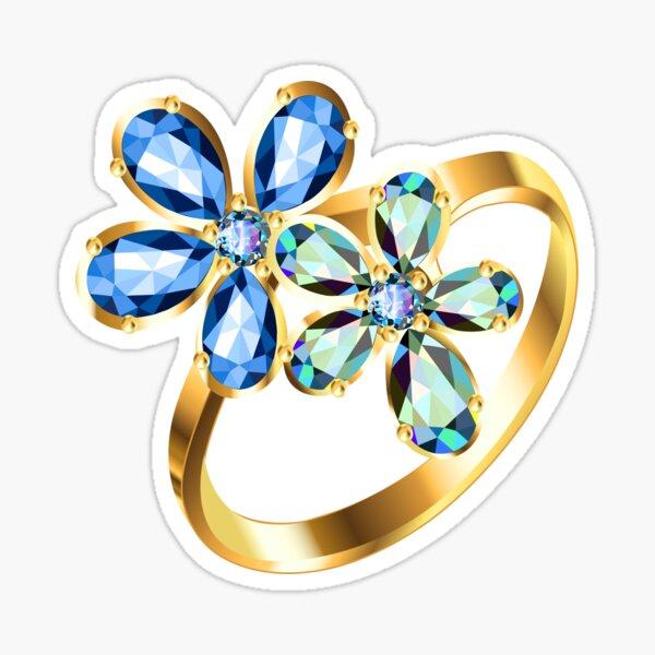 engagement ring #gold, #bright, #decoration, #gift, design, ornate, luxury, jewelry, illustration, celebration Sticker
