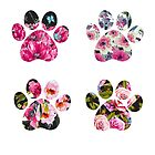 Floral Paws Set of Four by blessedliez