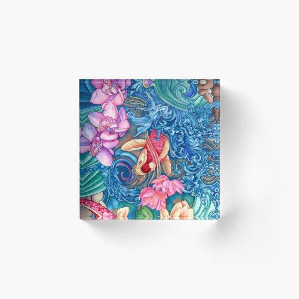 Orchid Splash Acrylic Block
