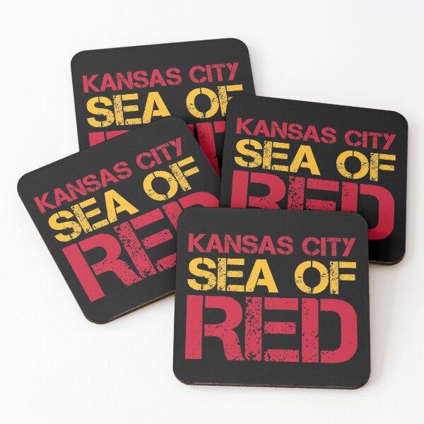 Kansas City Sea of Red Coasters (Set of 4)