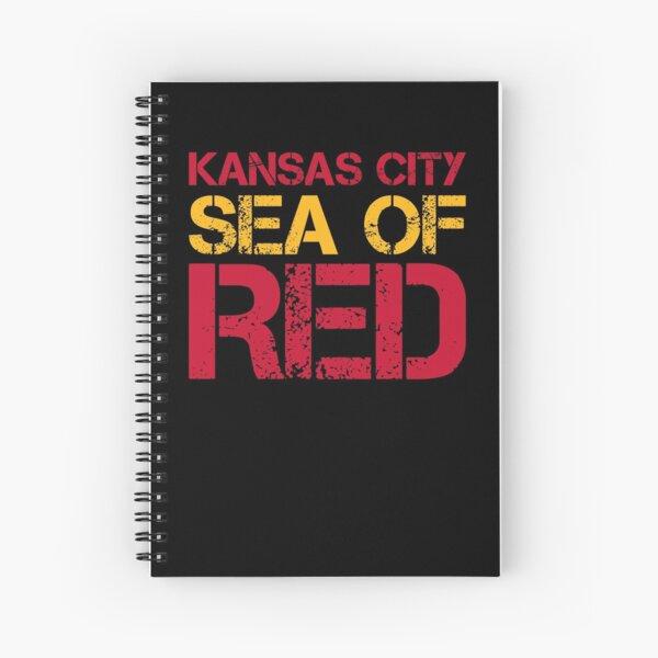 Kansas City Sea of Red Spiral Notebook