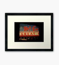 GREAT Framed Print
