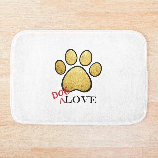 Dog Love Gold Bath Mat