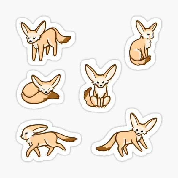 Fennec Fox Pattern  Sticker
