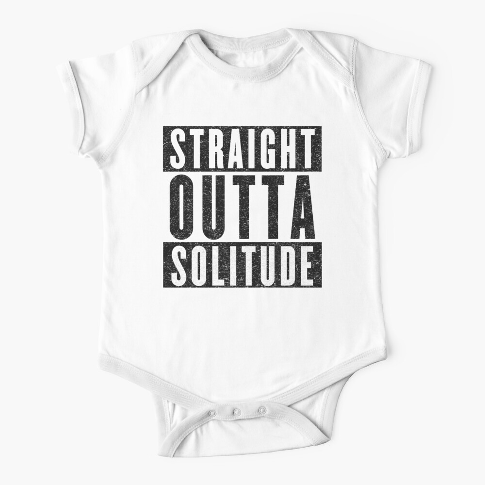 Baby Romper Straight Outta Solitude 100/% Cotton Long Sleeve Infant Bodysuit