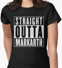 Adventurer with Attitude: Markarth Women's Fitted T-Shirt