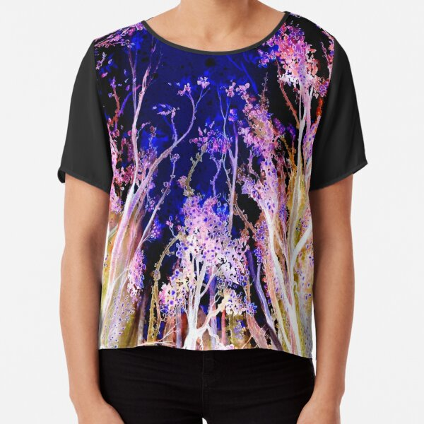 Moonlit Trees Chiffon Top