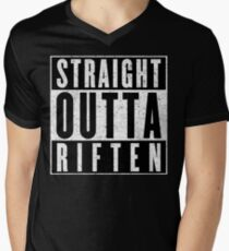 Adventurer with Attitude: Riften Men's V-Neck T-Shirt