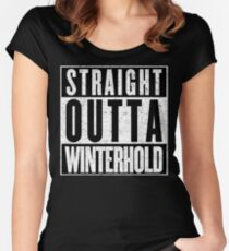 Adventurer with Attitude: Winterhold Women's Fitted Scoop T-Shirt
