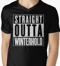 Adventurer with Attitude: Winterhold Men's V-Neck T-Shirt