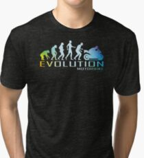 Motorcycle Ape To Evolution Tri-blend T-Shirt