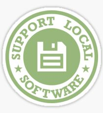Support Local Software Glossy Sticker