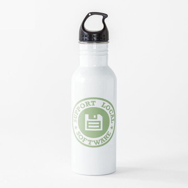Support Local Software Water Bottle