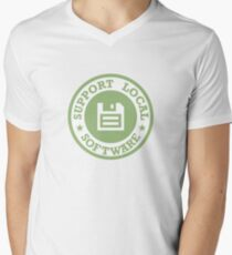 Support Local Software V-Neck T-Shirt