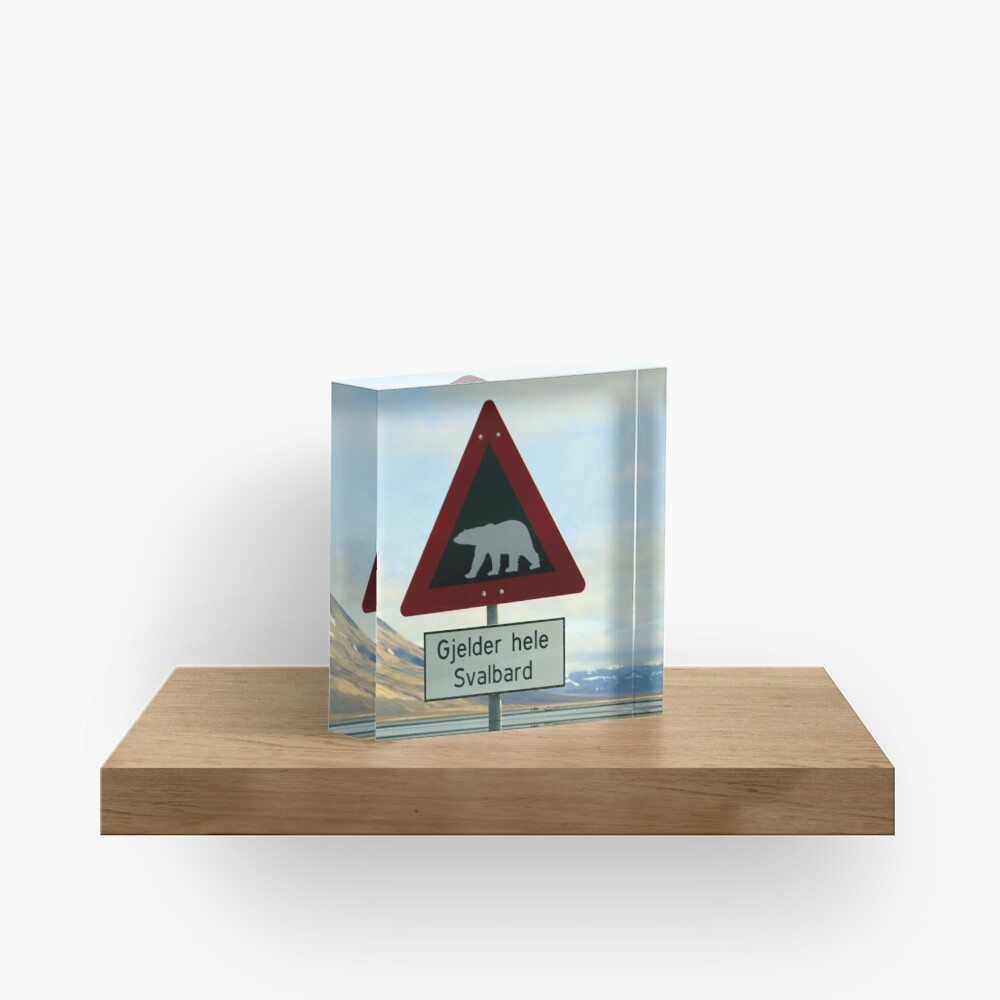 Beware of Polar Bears Acrylic Block