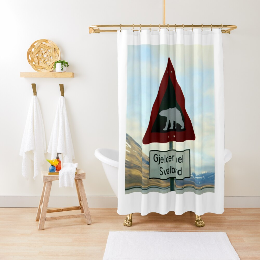 Beware of Polar Bears Shower Curtain