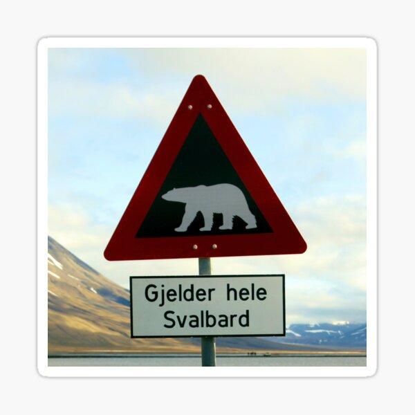 Beware of Polar Bears Sticker