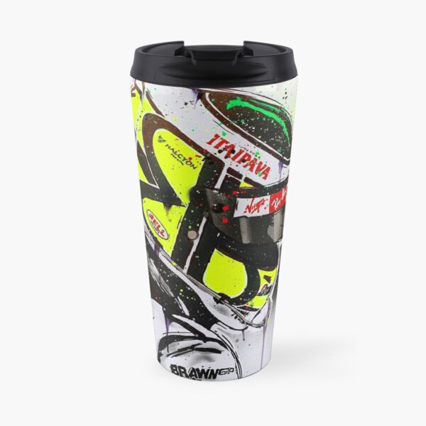 Jenson Button - Brawn GP F1 graffiti painting by DRAutoArt Travel Mug