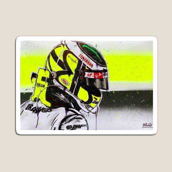 Jenson Button - Brawn GP F1 graffiti painting by DRAutoArt Magnet