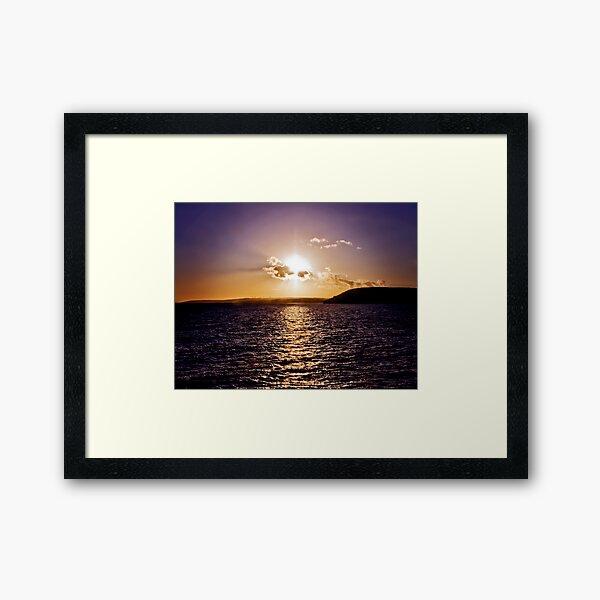 Sunset Across The Bay Framed Art Print