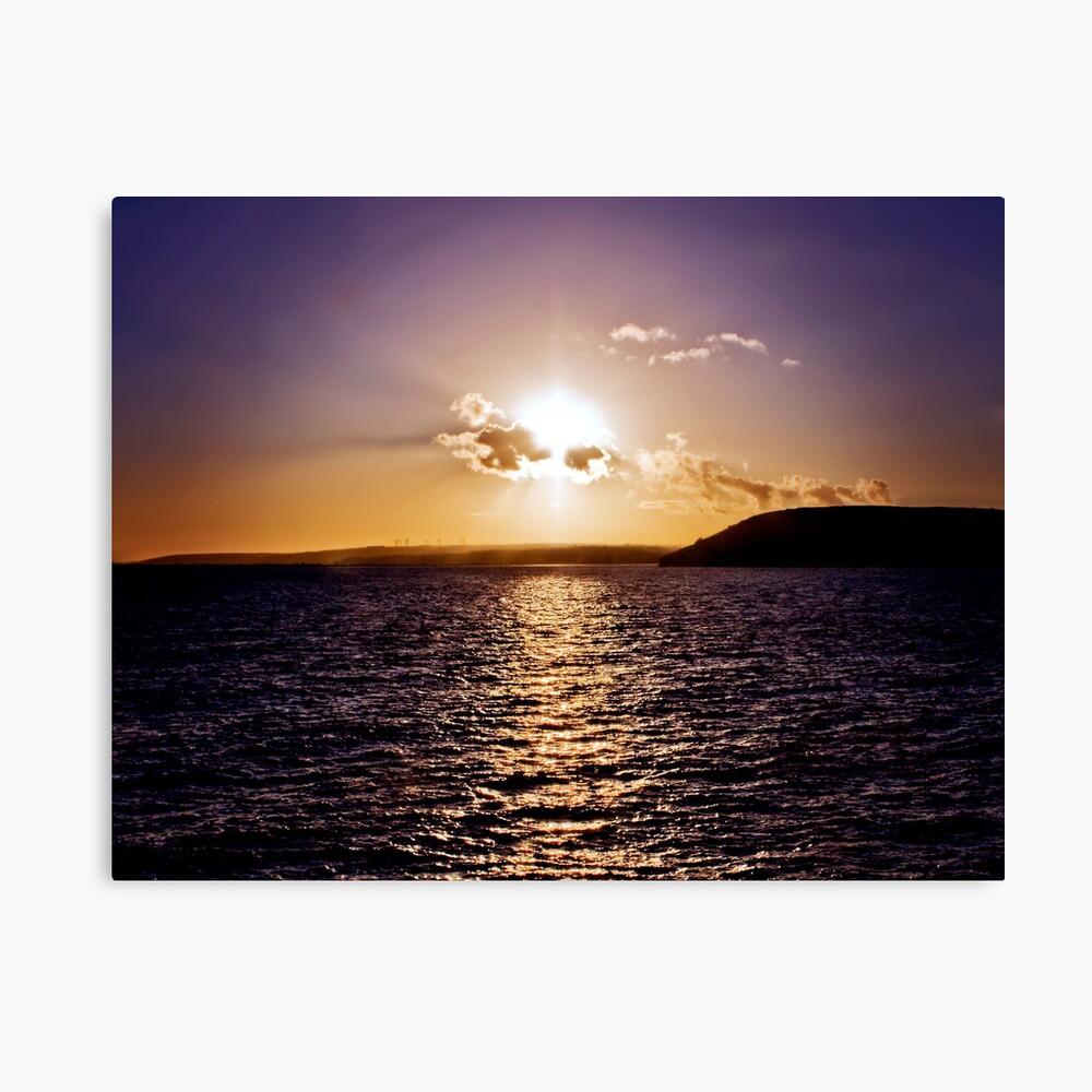 Sunset Across The Bay Canvas Print