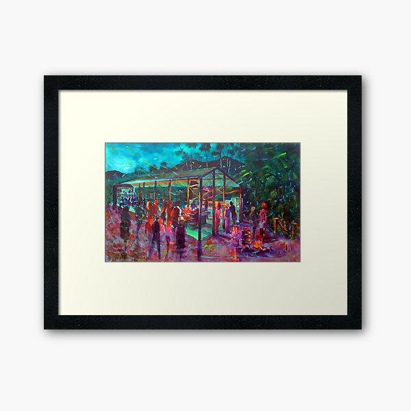 BMUP - N0 4 - the donkey and the Dinner Bell Framed Art Print