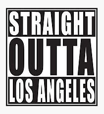 straight outta los angeles Photographic Print