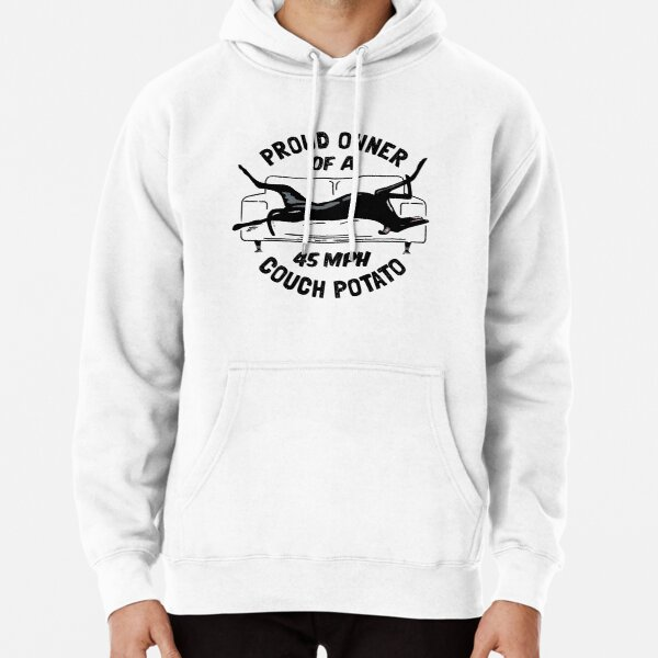 Proud Owner of a 45MPH Couch Potato - Funny Greyhound Gift Pullover Hoodie