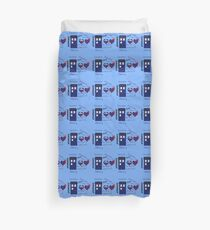 Repeating Tardis and Words! Duvet Cover