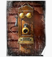 Steampunk - Phone Phace  Poster