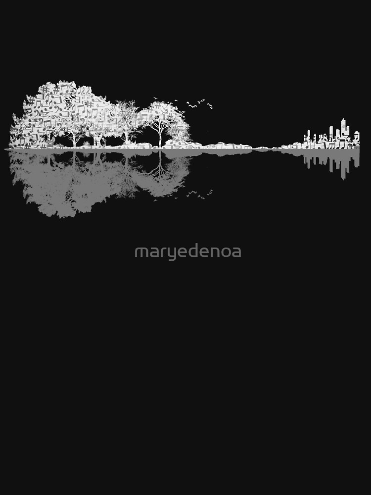 Nature Guitar - Musical Notes by maryedenoa