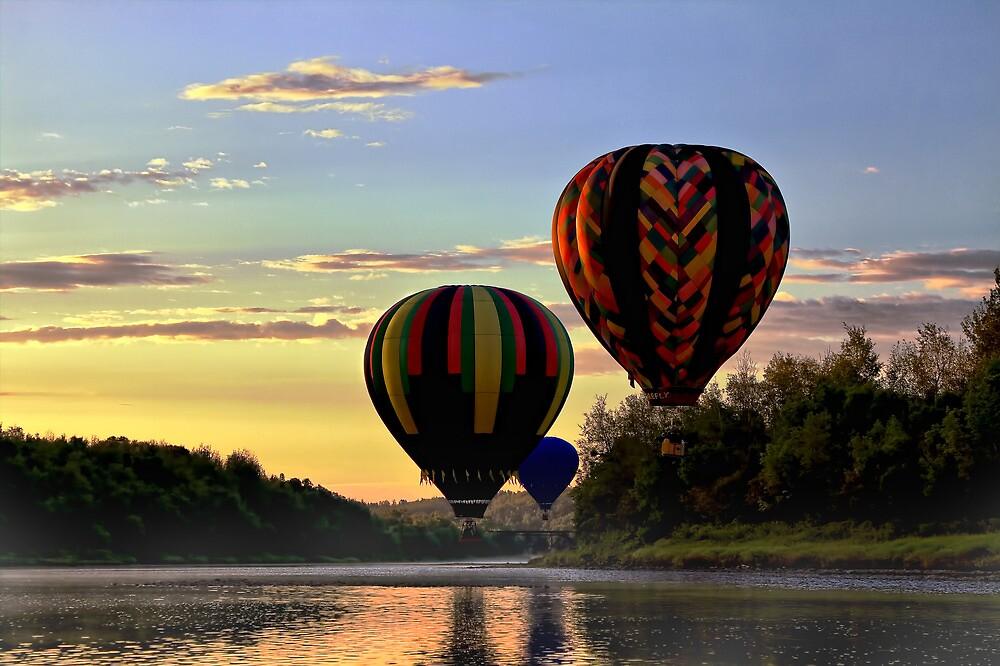 Balloon River Flight by Gary Smith