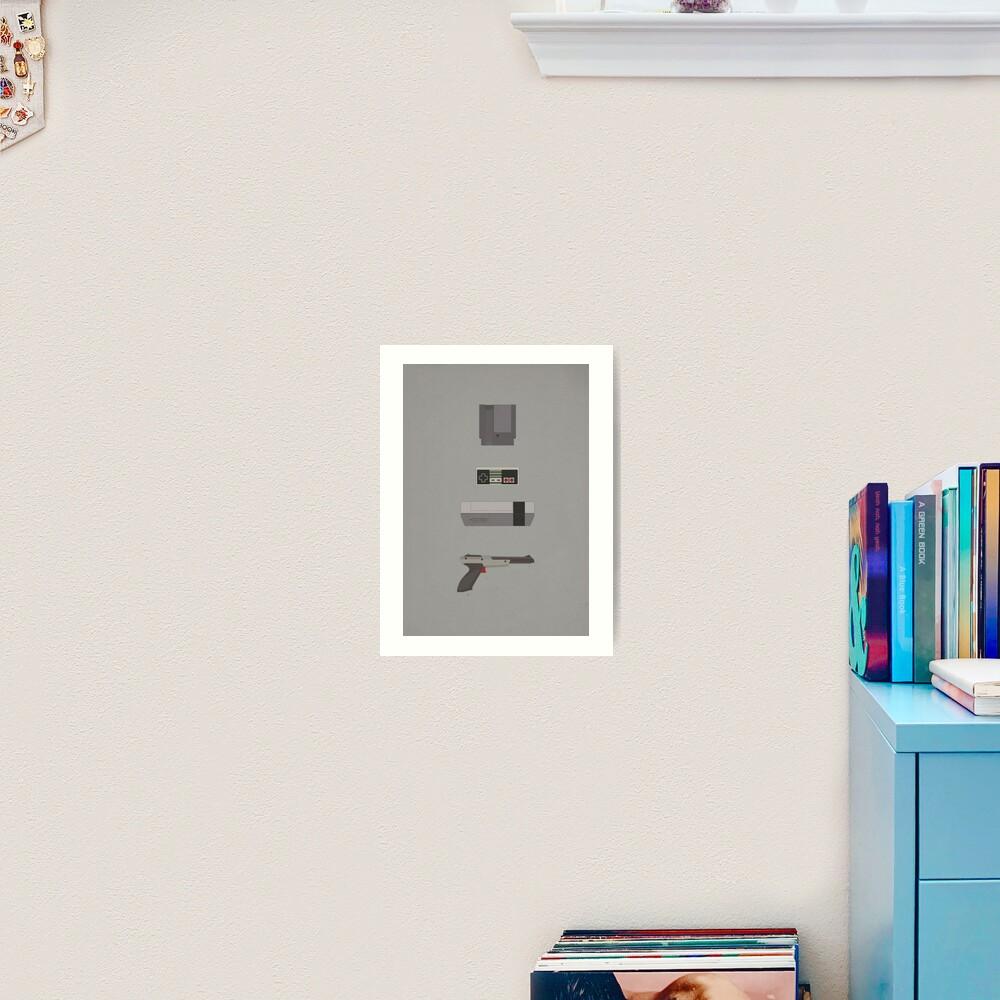 8-Bit love (NES) Art Print