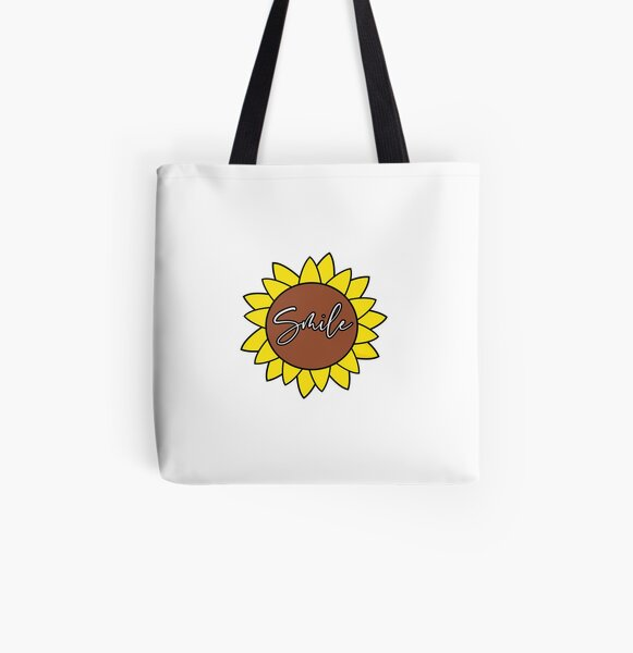 Sunflower Smile  All Over Print Tote Bag