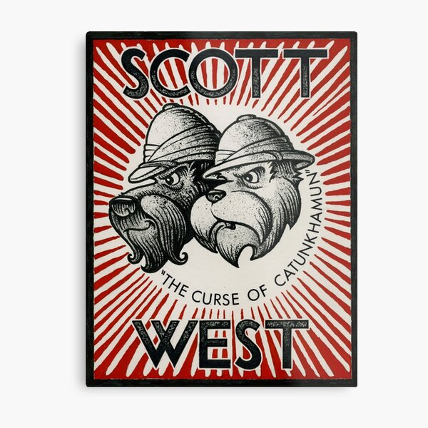 Dog Detectives: Scott and West Metal Print